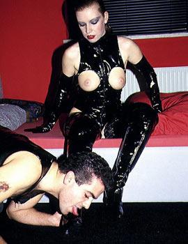 Fussherrin fusssklave fetisch high heels nylon pantyhose 7
